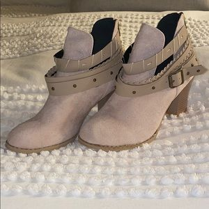 Tan Suede Booties | Size 38 | never worn
